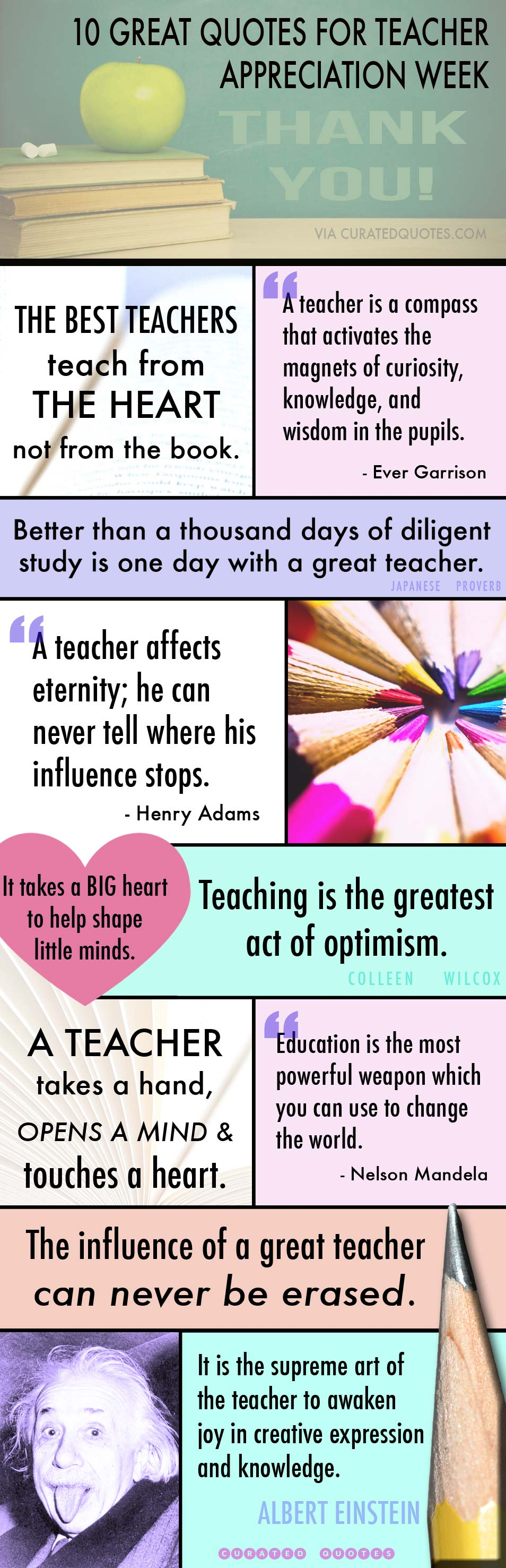 Appreciation Quotes 32 Thank You Quotes For Teachers  Curated Quotes