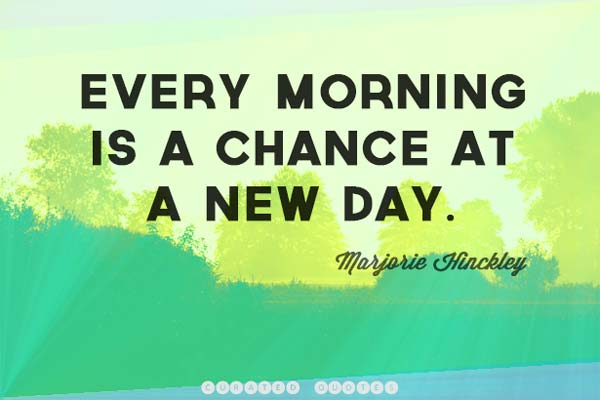 inspirational morning quote