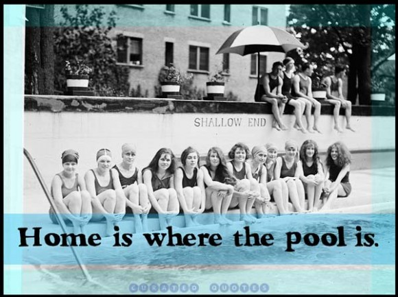 Funny swimming quotes and sayings quotesgram for Swimming pool quotes