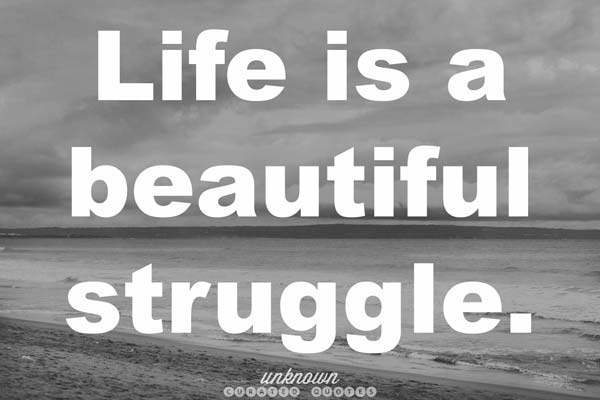 Quote: Life Is A Beautiful Struggle.