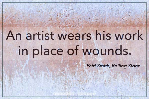 Artist Wounds Patti Smith