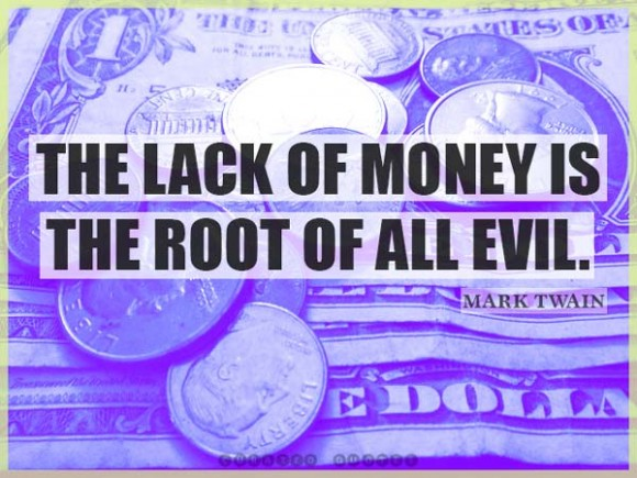 The Lack Of Money Mark Twain